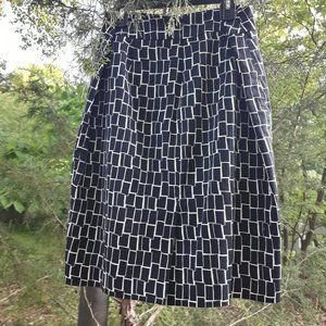 Black and White Skirts Pencil Skirt Ann Taylor 6